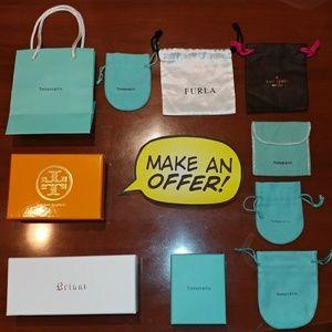 Lot of 10 Tiffany&Co , Kate Spade Jewelry Bag/Box